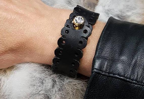 Bracelet en cuir de vachette