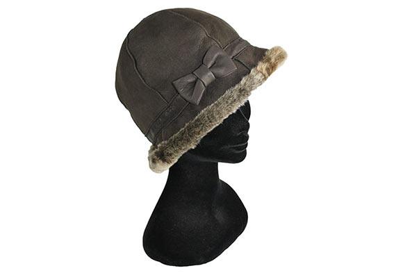 chapeau cloche peau lainée